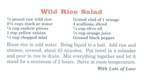 Big Sky Wild Rice Salad