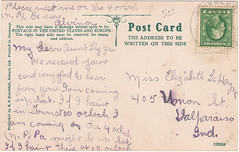 M.E. Church, PM 1914, verso