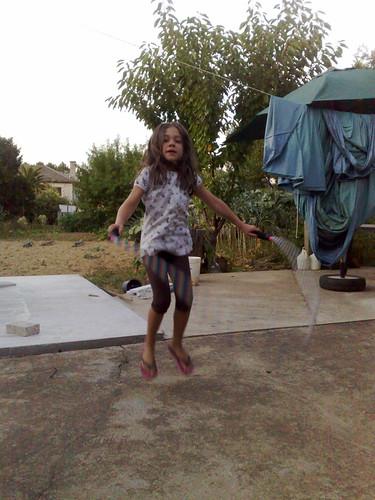 A jumping Maria