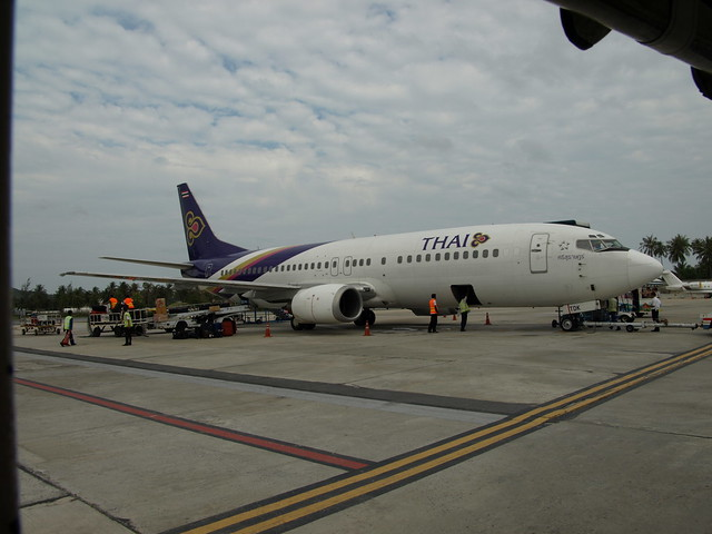 B737 of TG at Samui AP