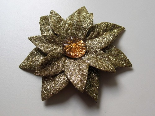 Finished gold flower