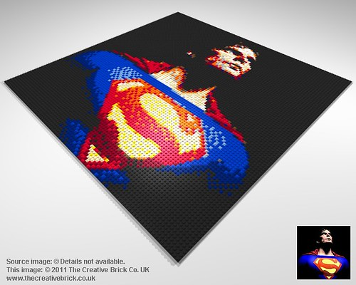 Christopher Reeve Superman Mosaic