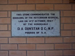 Hutchinson Hospital, Commemoration Stone, 14th October 1967.