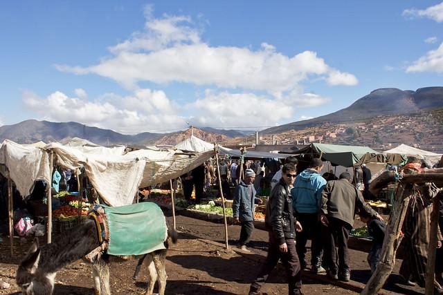 berber market in asni