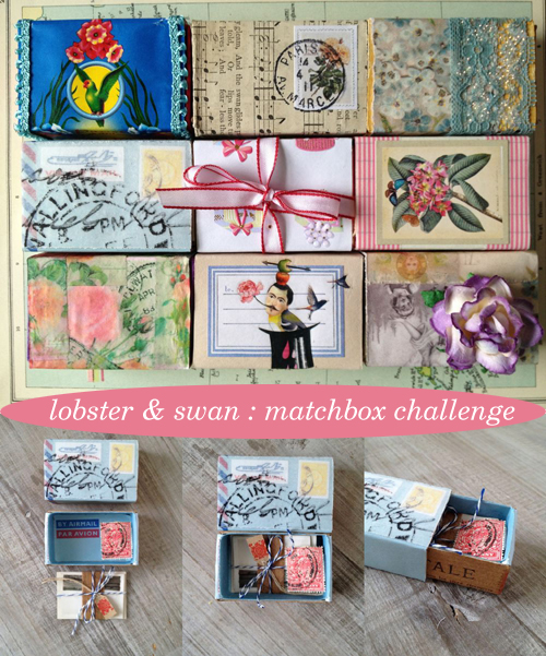 Lobster & Swan, February Matchbox a Day challenge | Emma Lamb