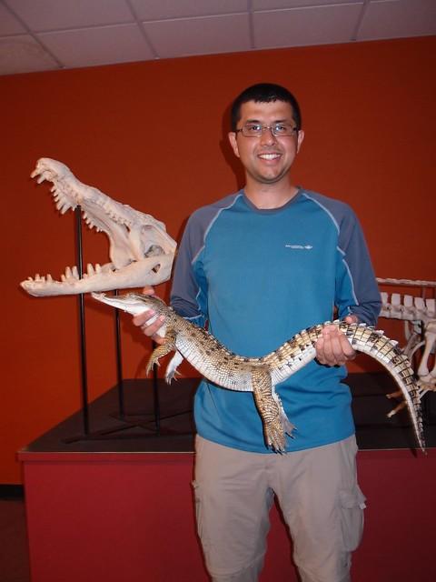 Holding baby croc - Crocosaurus Cove Darwin