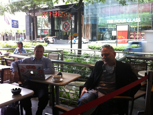 Coffee in Orchard Road with Xander