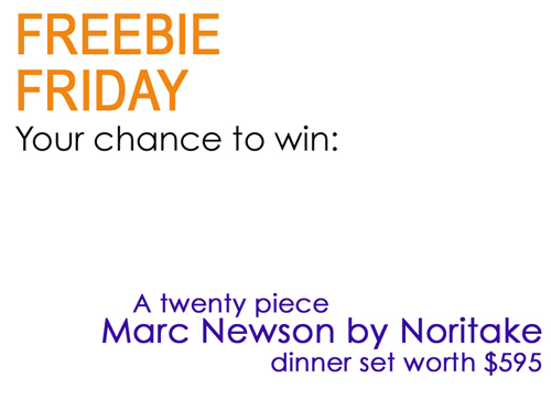 Win a Marc Newson by Noritake 20-piece dinner set worth $595