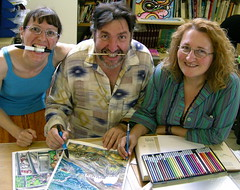 Damanhurian comic book artists having fun