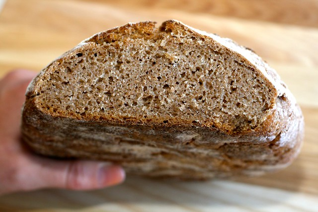 Sprouted Whole Wheat Sourdough Bread