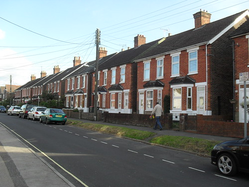 A typical British residential street