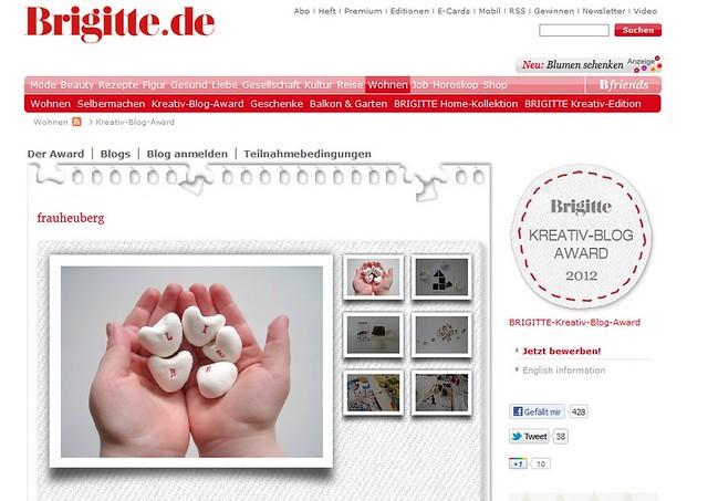 Brigitte Kreativ-Blog Award 2012