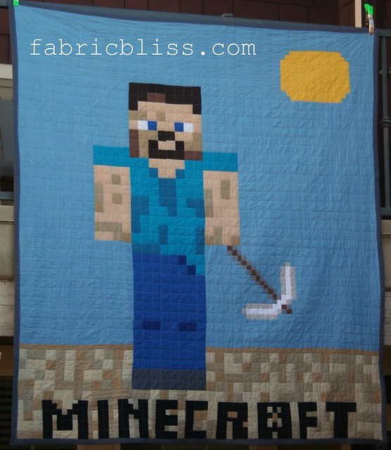 Minecraft Quilt DIY project - Steve