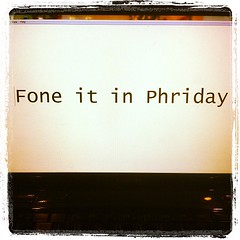 Fine it in Phriday.