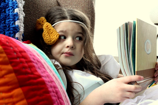 can't peel her eyes away from the book