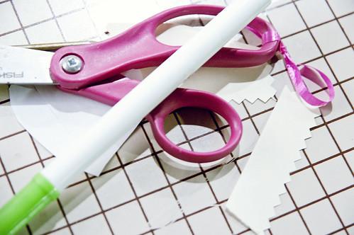 scissors pile