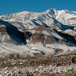 Snow-Covered Mountians Near Abyaneh, Iran