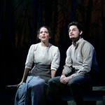 Jessica Rothenberg and Enver Gjokaj in the Huntington Theatre Company's production of The Cherry Orchard, directed by Nicholas Martin. Part of the Huntington Theatre Company's 2006-2007 Season. Photo: T. Charles Erickson.