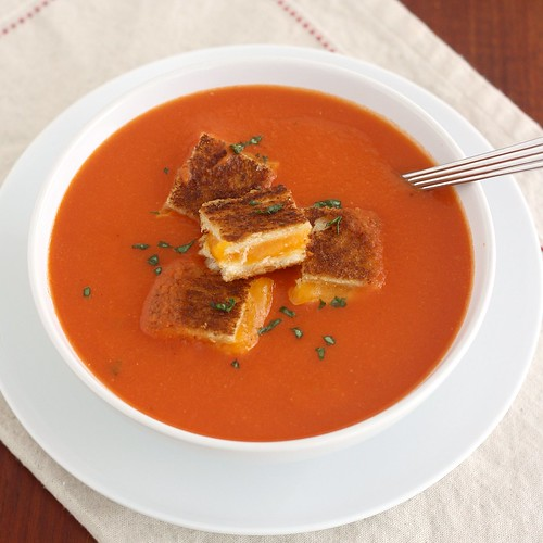... Soup with Grilled Cheese Croutons | Tracey's Culinary Adventures