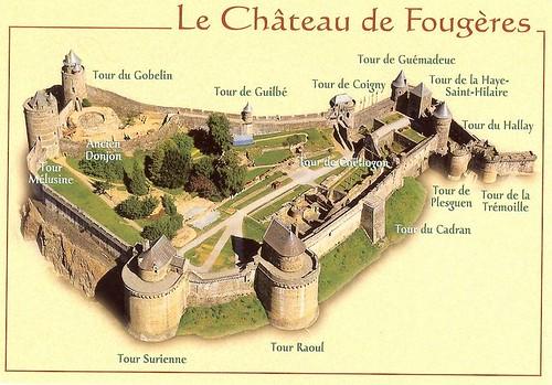 La carte de Fougères