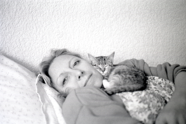 Mom with kitty