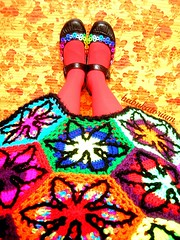 Bad Trip Psychedelic Nightmare Crochet Coat