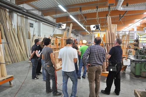 #holzvonhier-holzwirtschaft-bei einem Fensterbauer