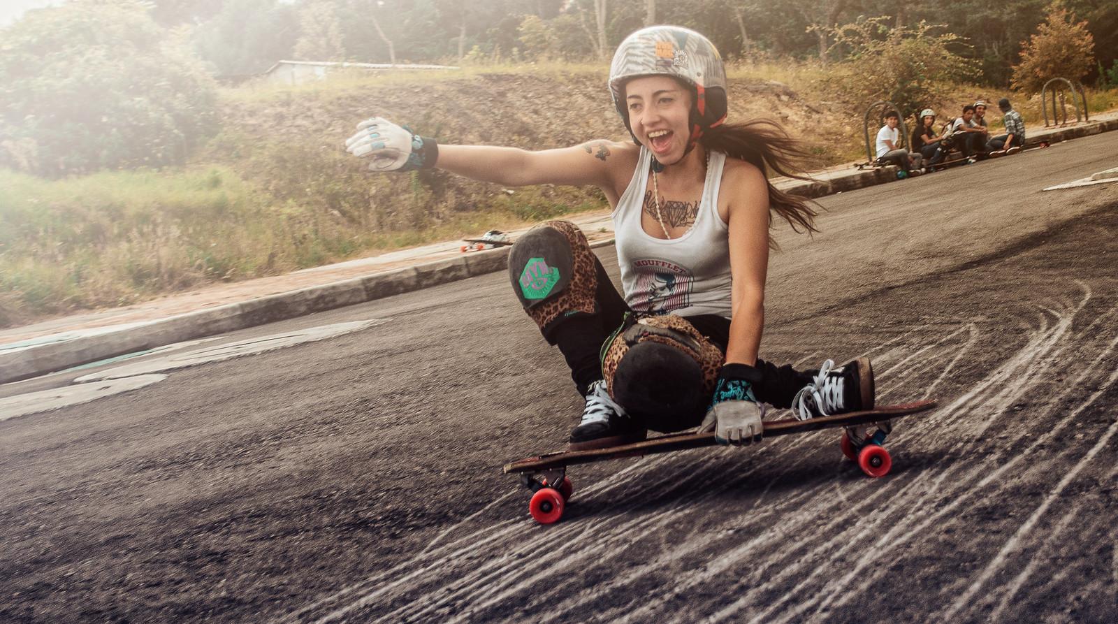 Longboard girls crew, chela giraldo, longboard girl, longboard, girl, cool, fun, slide
