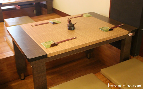 Japanese Themed Dining Table