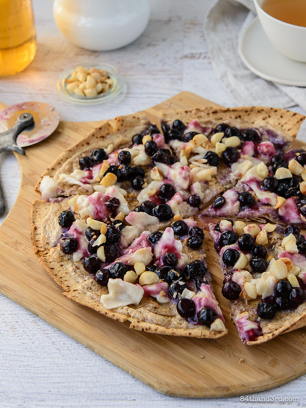 Nutty Blueberry Breakfast Pizza