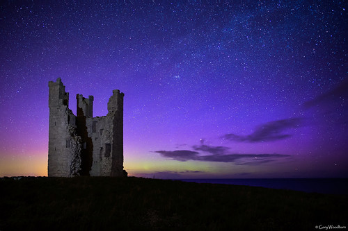 Northern Glow - Aurora Borealis, Dunstanburgh Castle, Northumberland