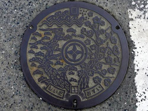 Shiida Fukuoka, manhole cover (福岡県椎田町のマンホール)