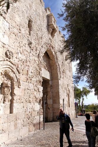Zion Gate, bulletridden from the 1948 War