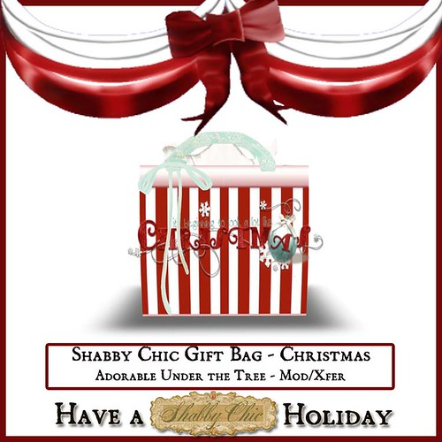 Shabby Chic Gift Bag - Christmas by Shabby Chics