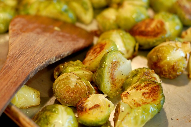 Sprouts done roasting by Eve Fox, Garden of Eating blog, copyright 2011