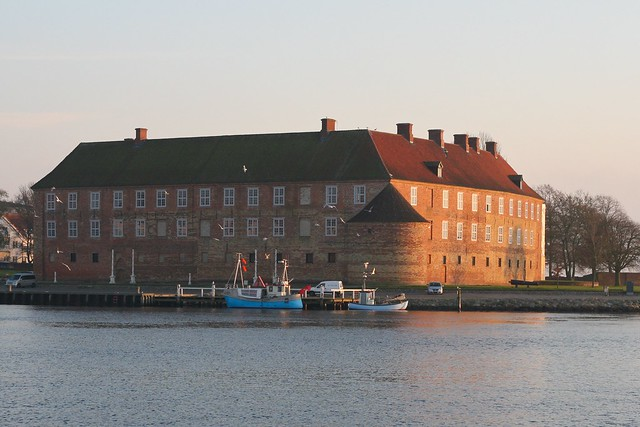 Sonderborg Castle - with the fisherman in front