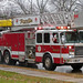 Small photo of Roselle Ladder 511 with Santa