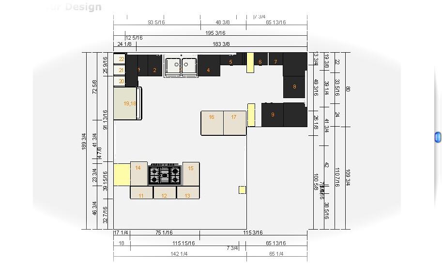 Small awkward kitchen floor plan for Kitchen design 90501