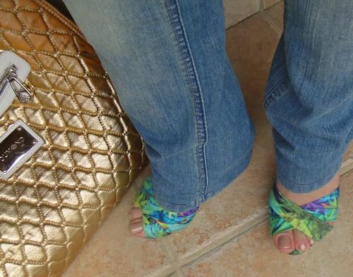 Sandália estampada