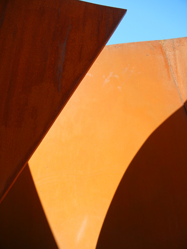 Steel Sculpture by Richard Serra, Cantor Arts Center, Stanford University _ 8382