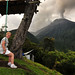 Swinging in the shadow of Tungurahua