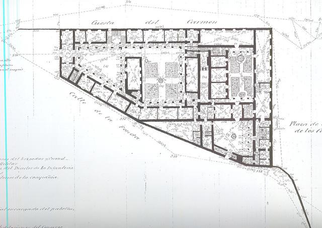 Plano de la Fonda de la Caridad de Ibáñez Ibero en 1881