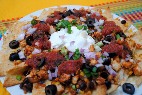 Spicy Shrimp Nachos with Restaurant Style Salsa