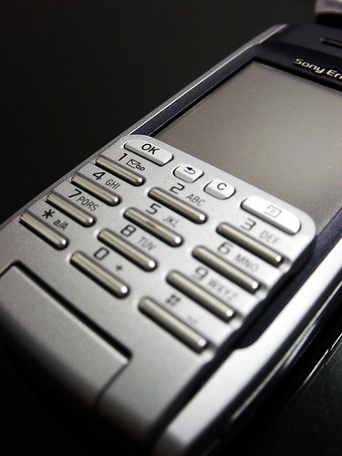 Picture of the textpad and screen on a smartphone