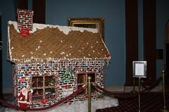 gingerbread house, christmas,