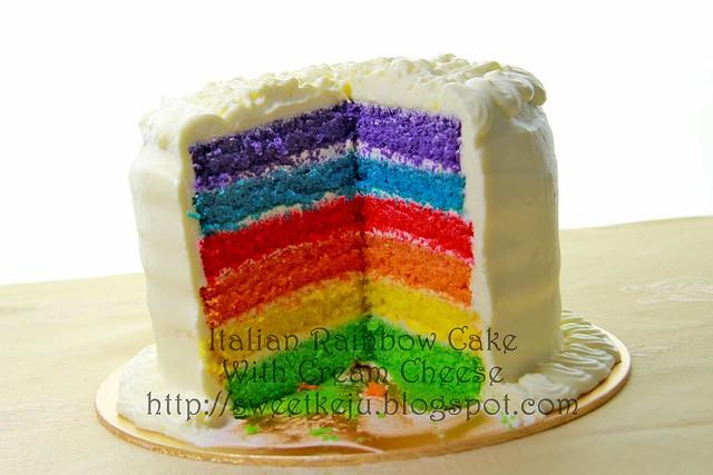 Rainbow Cake Recipe Italian: Italian Rainbow Cake With Cream Cheese