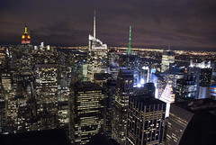 Looking Southwest from Rockefeller Center (with notes)