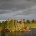 Looking across the lake at Blenheim Palace towards the village of Woodstock.