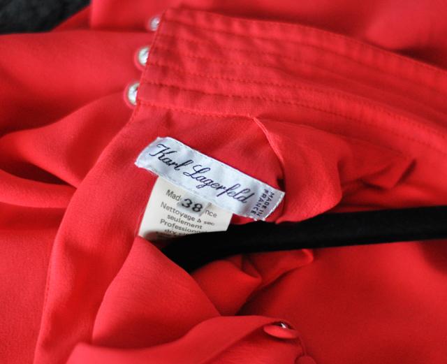 vintage karl lagerfeld dress