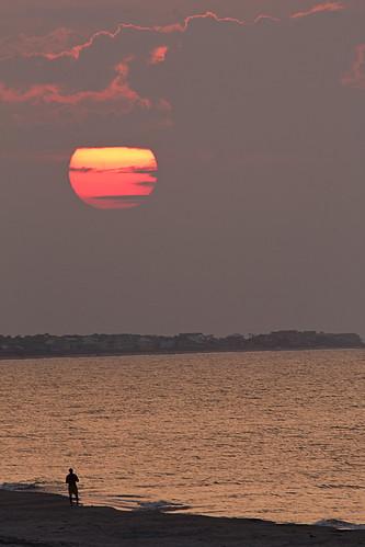 ocean beach sunrise coast fishing florida coastline stgeorgeisland forgottencoast